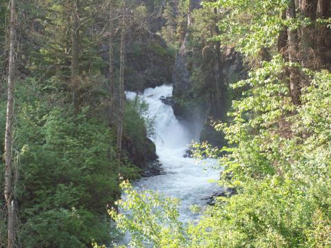 B C Creek flowing into Wallowa Lake